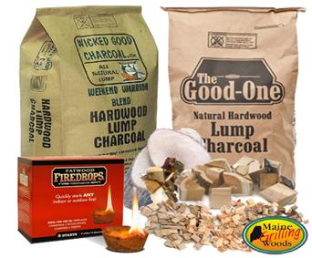 Lump Charcoal-Flavored Wood