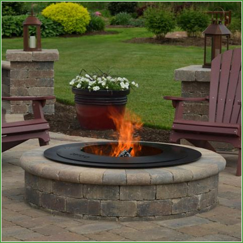 zentro 24 smokeless fire pit insert w lid backyard living. Black Bedroom Furniture Sets. Home Design Ideas